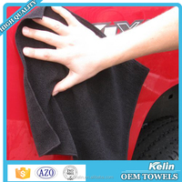 Green Color Printed Microfiber cleaning cloth / car wash towel