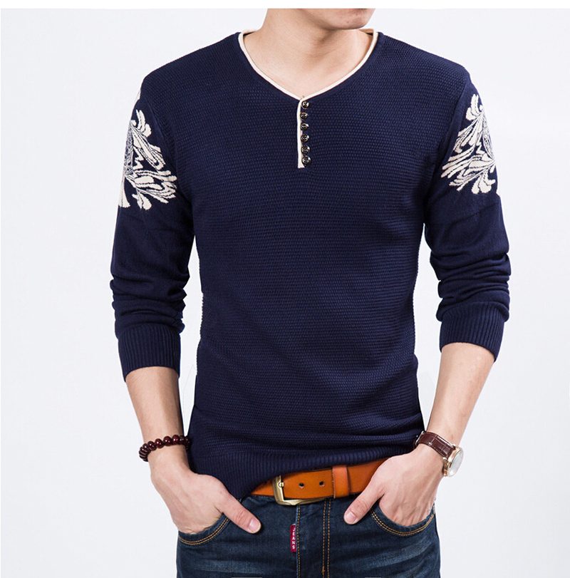 Warm Soft Sweater Preppy Style Pullovers Men's Fashion Sweaters All-match Knitted Sweater Top Quality Free Shipping No.427