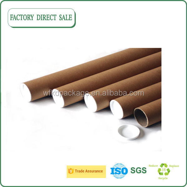 High quality waterproof craft paper mailing tube paper shipping tube