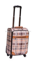 fashion pu leather luggage trolley case
