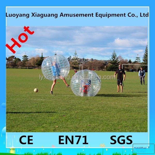 Colorful inflatable body zorbing footable games for kids bumper ball soccer