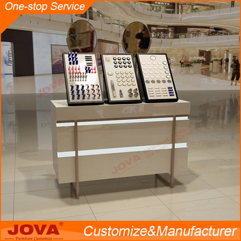 a high admiration design plan for cosmetics counter display furniture