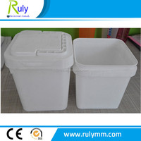 White PP Square plastic pails/buckets for food storage made in china