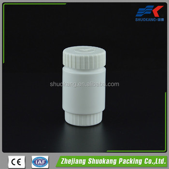 China pharmaceutical plastic medicine bottle/seal for medicine bottles/100ml pe pill bottle with child resistant safety seal cap
