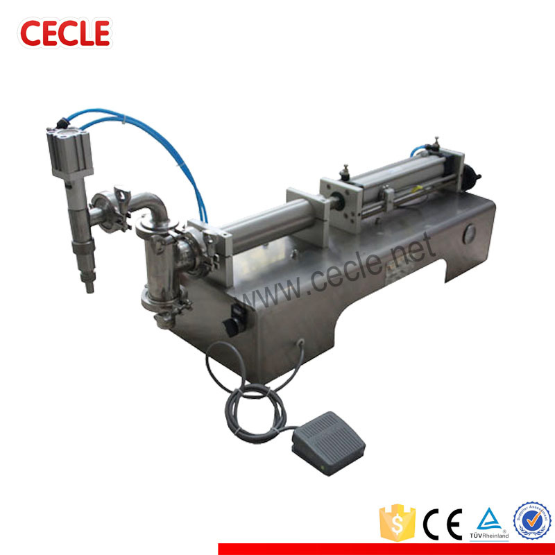 Automatic 4 nozzle liquid filling machine manual with CE certificate