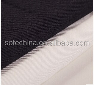 With thick woolen uniform fabrics