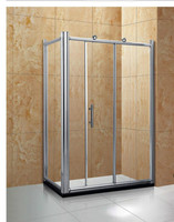 Hight quality big rolling square glass shower cabin TA-402