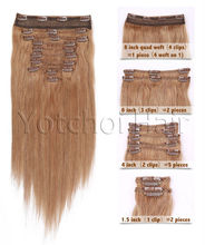 wholesale full head clip in hair extensions free sample