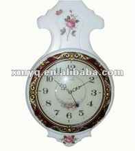 Modern White Wooden Art Painting Wall Clock