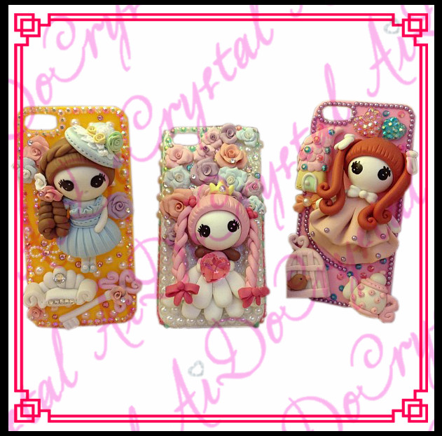 Aidocrystal Exquisite technique cartoon 3D silicone cute doll girls mobile phone case