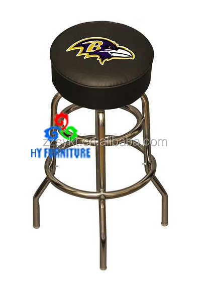 High end bar furniture design metal base thick PU seat bar stools