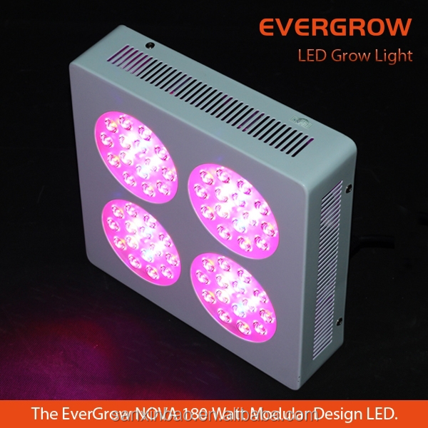 Evergrow NOVA S4 Series US UK Hot Selling 3watt Single Chip 180W LED Plant Grow Light