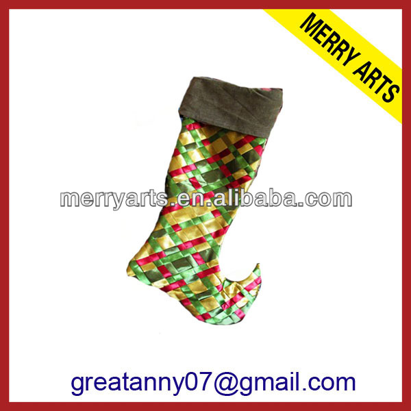 2015 new product wedding decoration cast iron christmas stocking holder large christmas stockings with good quality wholesale