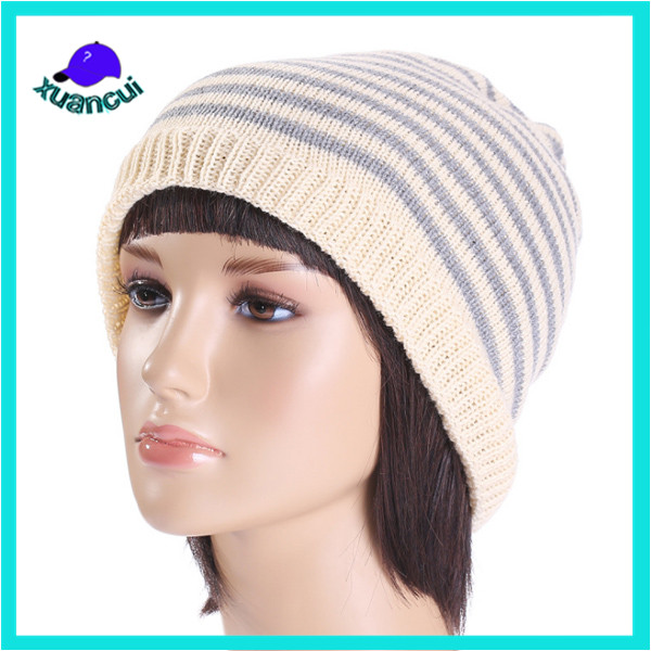 2017 New Fashion Women high quality chunky Wool Heated Beanie Hat wholesale