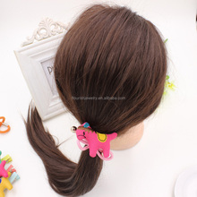Whoelsale kids elastic hair band girls multicolor cartoon animal hair accessories