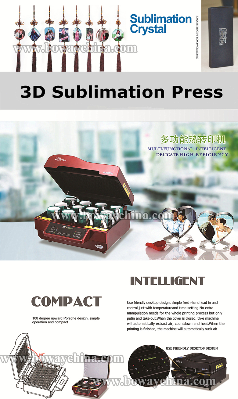 3D sublimation vacuum heat press machine