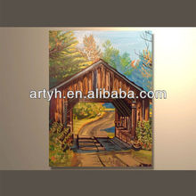 Hot order handpainted art painting outdoor decoration house picture