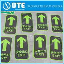 Full color printing pvc vinyl decal floor sticker