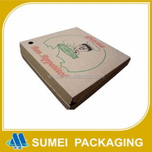 Custom high quality brown paper box for pizza