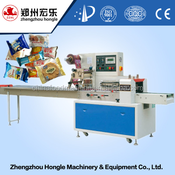 Horizontal Automatic Cookies Pillow Type Bag Packaging Machinery For Sales