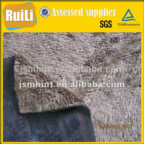 fur bonded with suede fabric clothing,knit bonded fleece fabric