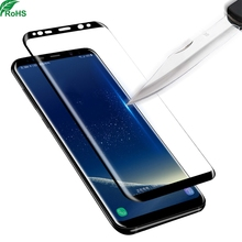 High quality 3d full cover edge tempered glass screen protector for samsung s8\/s8+ plus