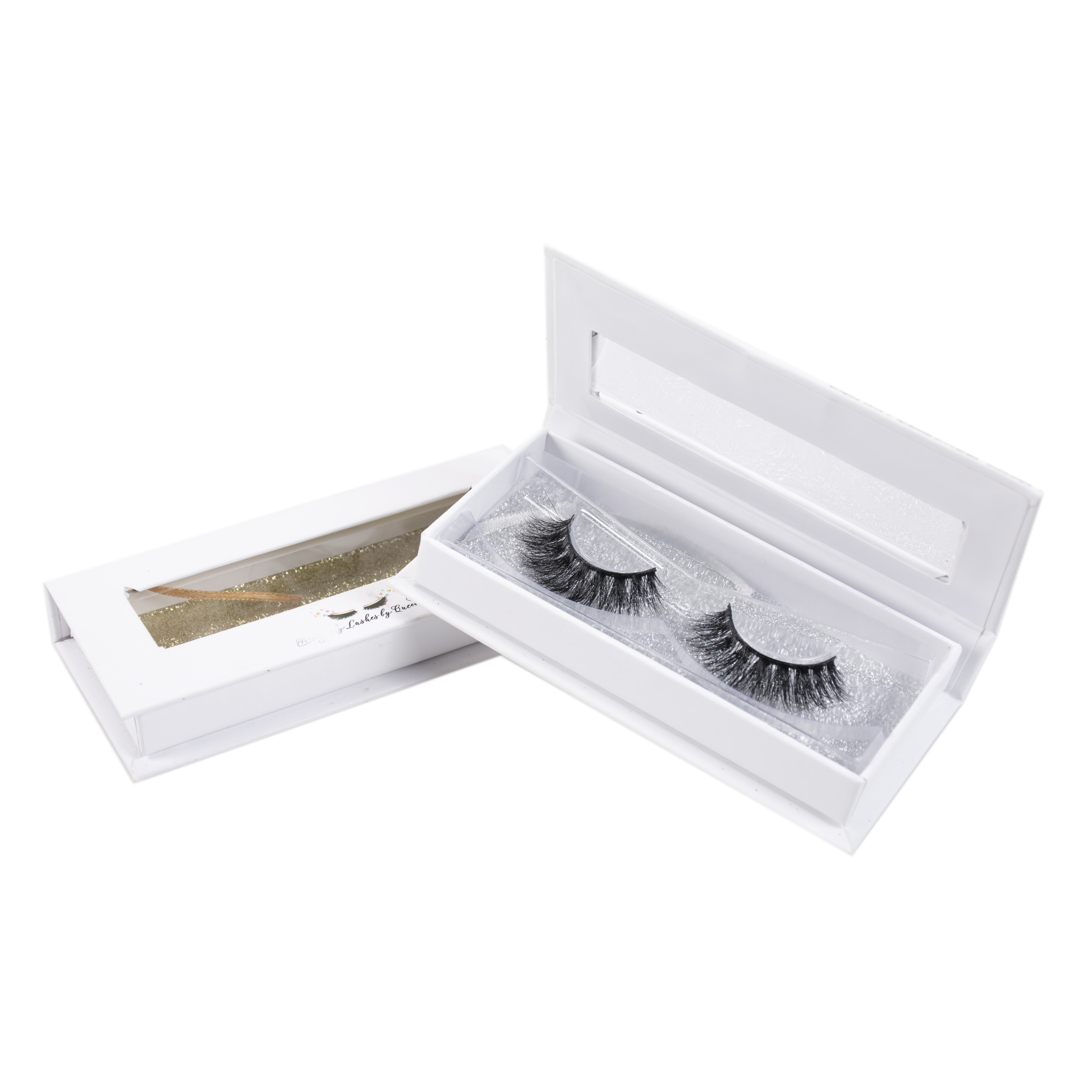 99d10fd108f Custom clear band false eyelashes box packaging glitter eyelash box 3d mink  lashes