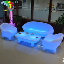 Modern Sofa Furniture / Night Club Plastic Sofa Set/ Glow Led Sofa Set