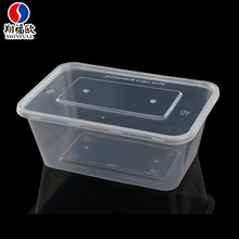 High temperature disinfection rectangular big box plastic container biodegradable food packaging 1 litre plastic containers