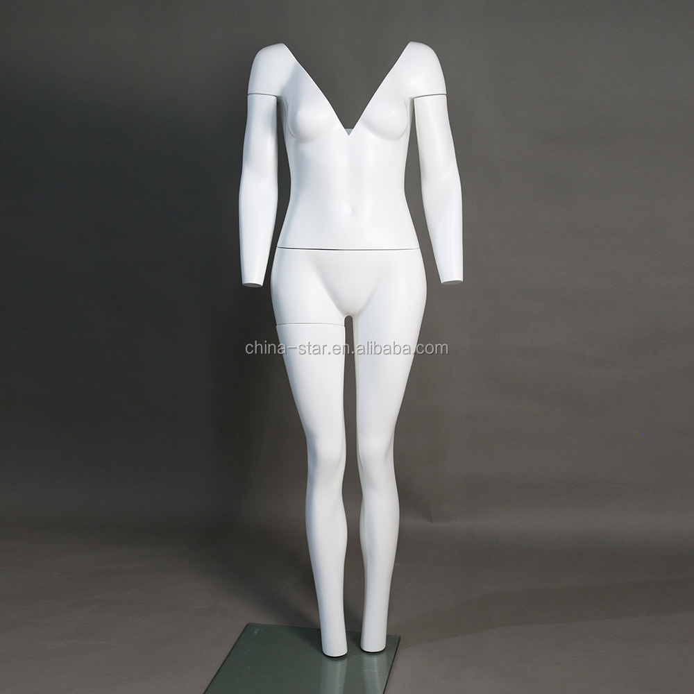 Wholesales V neck ghost mannequin invisible female