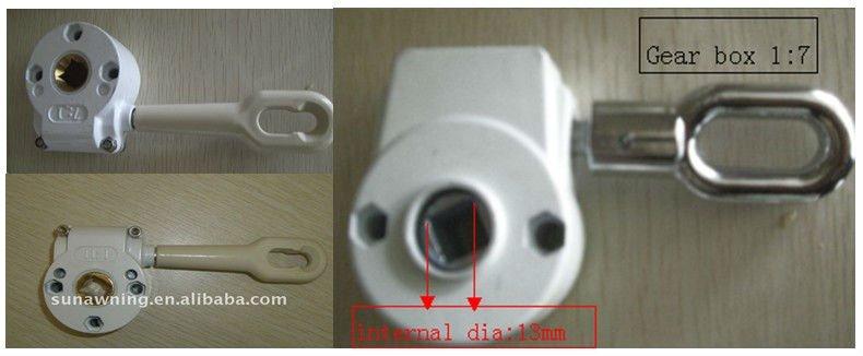 Caja de engranajes para toldo manual accesorios de for Toldos para enrollar