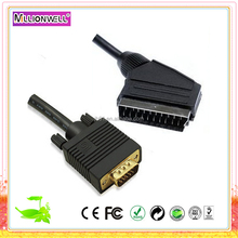 scart to vga male cable, scart to vga converter