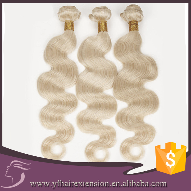 Brazilian Virgin Hair, Natural Hair Extensions Tangle Free Blonde Hair Extensions