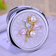 engravable compact mirrors cosmetic makeup compact mirror