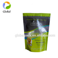 China manufacturer custom logo stand up pouch for pet food packing zip lock bag