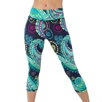 Yoga Capri Pant Leggings Fitness Gym Wear Workout Running Clothes