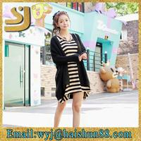 Casual fashion front short back long knit sweater for girls as knitting sweater for ladies