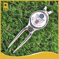 Bulk golf divot repair tools/pitch forks with eagle ball markers