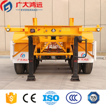 China manufacturing 3 axles 40ft container chassis skeleton semi trailer with twist lock for sale