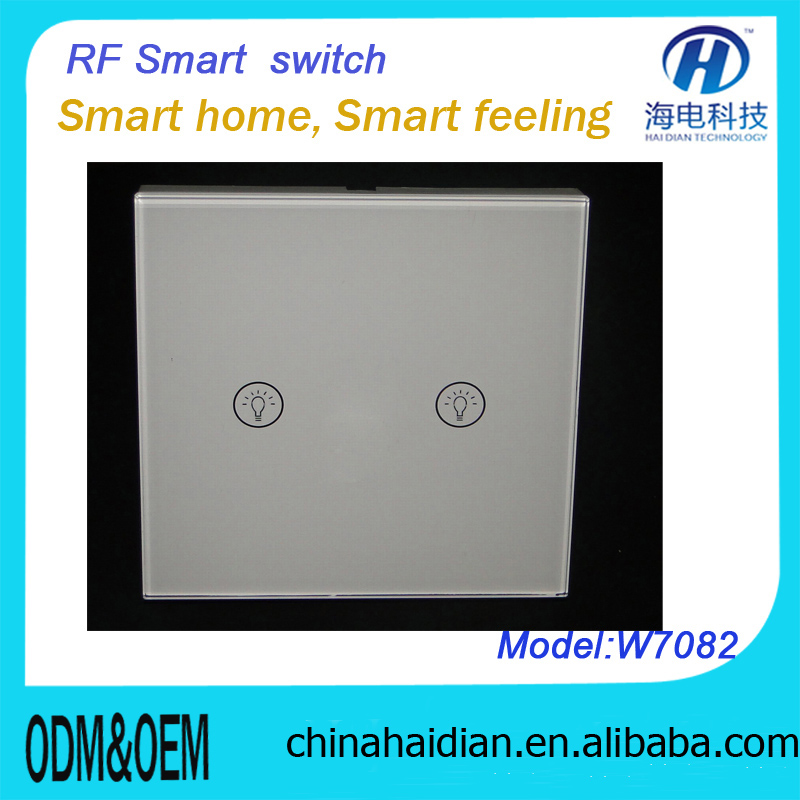 Intelligent home electronic smart touch controls switch rf remote control light switch