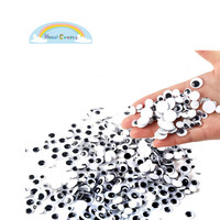 Round Wiggle Googly Eyes with Self-adhesive DIY Scrapbooking Crafts Toy Accessorie