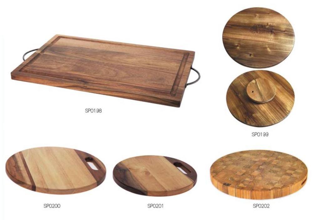 eco friendly oak wood chopping board and sushi board