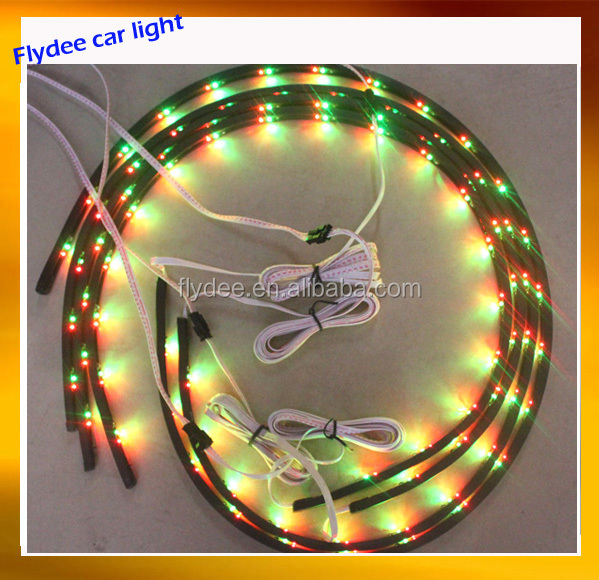 Auto car body underground flexible strip as Chassis lights with remote controller Lighting the bottom of the car LED