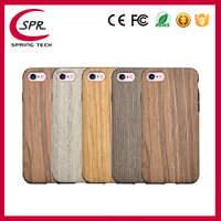 Customized design fancy wooden Silicon full cover cell phone cases for iphone 7
