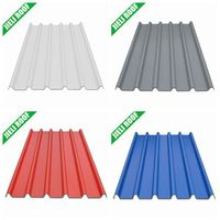 PVC color corrugated plastic material roofing sheet