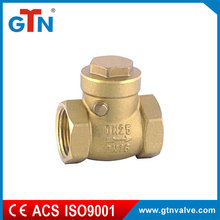 Manufacturer custom fitting forged dn25 cheap brass water valves ART202V stop check valve