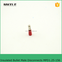 Copper MPD Insulated Bullet Male Terminals MPD1.25-156 Wire Terminals Male Cable Lugs Insulated Bullet Male Connector