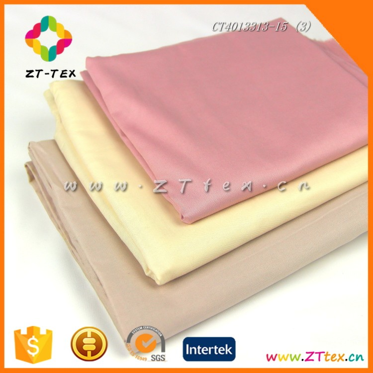 Shaoxing factory textile woven solid colors sateen china cotton fabric