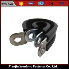 compression rubber hose lined pipe clamp