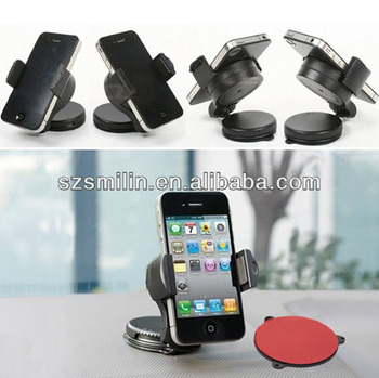 Promotional gift 360 degree rotatable Windshield Car Mount Phone Holder for iPod iPhone Mobile Phone MP3 MP4 Players